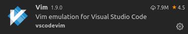 Vim Extension For VSCode